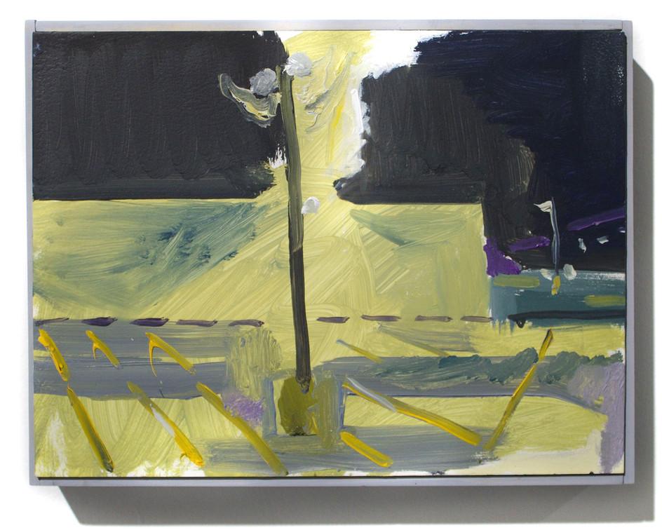 "'Light', oil on aluminum, 12 x 9"", 2019"
