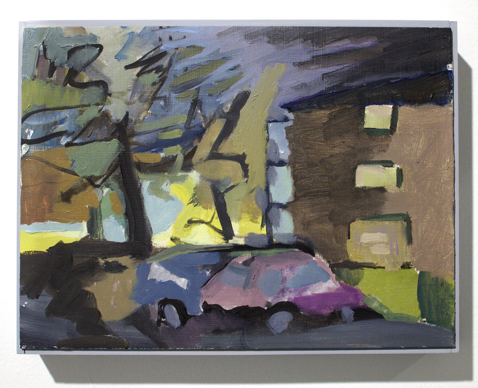 """'Apartment', oil on aluminum, 12 x 9"""", 2019"""