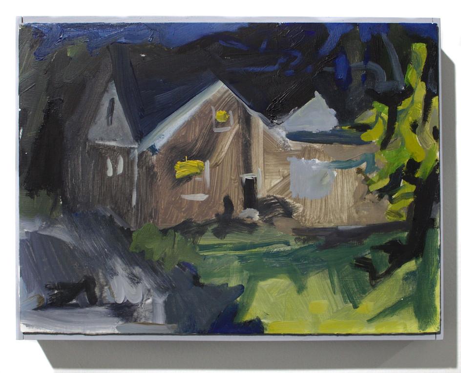"""'House', oil on aluminum, 12 x 9"""", 2019"""