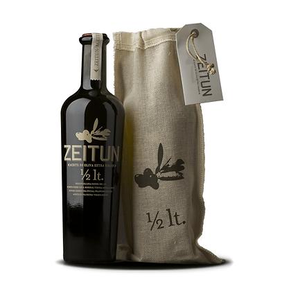 Aceite de oliva Zeitun Botella 1/2 lt. con Saco