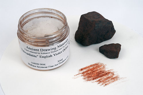 Wallace Seymour Ancient Drawing Material: Violet Ochre