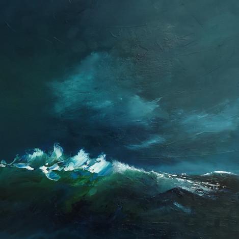 Oil on Canvas Panel  30 x 30 cm  White Wood Frame  £165