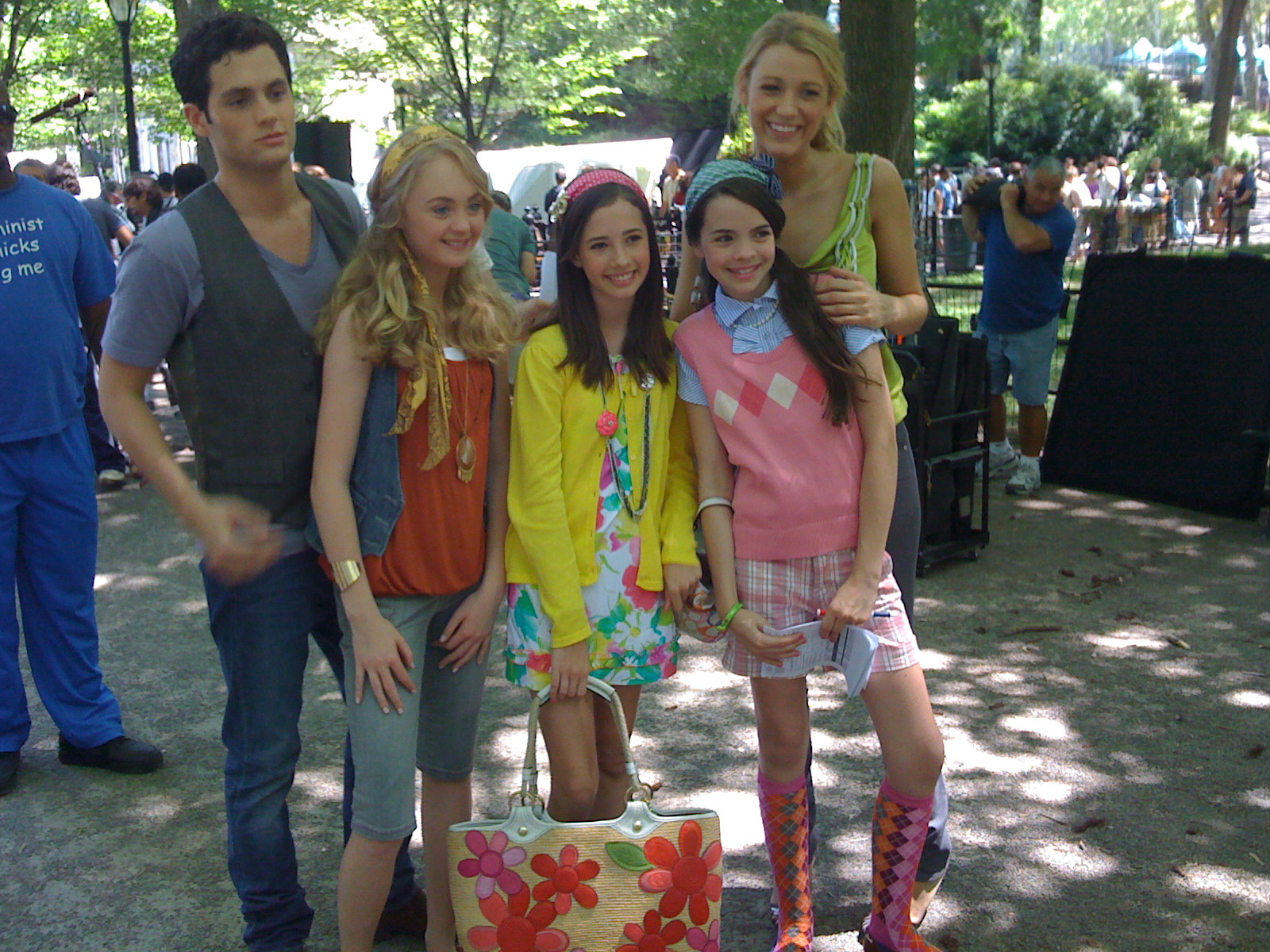 On set of Gossip Girl