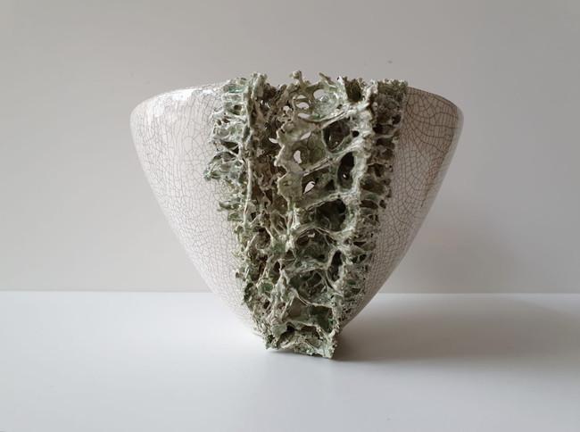 Small Lichen Vessel I