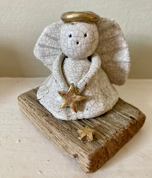 Mounted Angel with Large Star