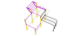 RVL13 Garden Gym Double Rack DDWM 02