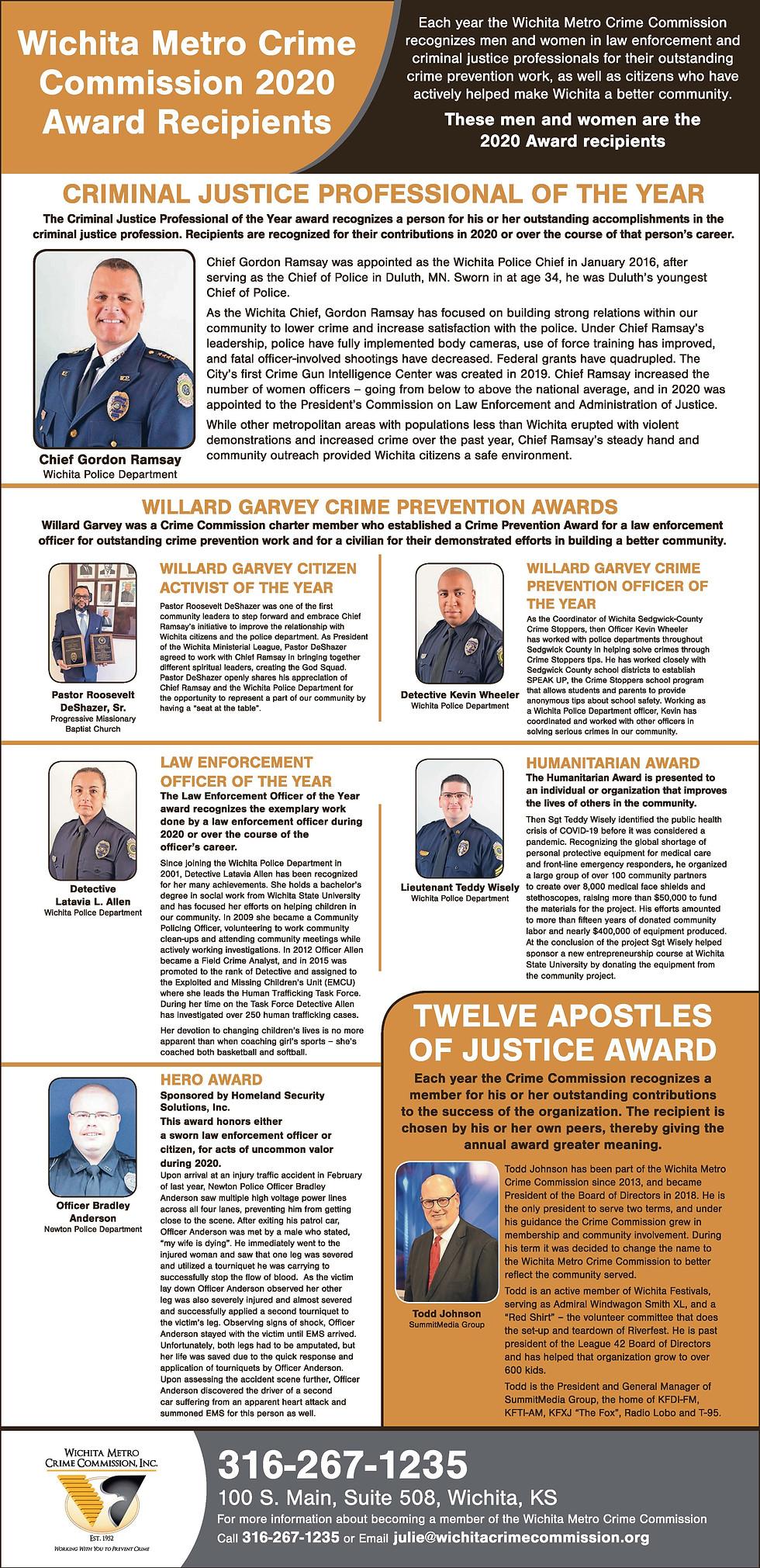 2020 Annual Award Winners Wichita Eagle