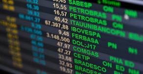 Ações brasileiras negociadas na baixa de 4 semanas