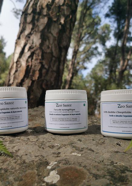 2 Zéolithe clinoptilolite 100% micronisée + 1 Panacée synergétique