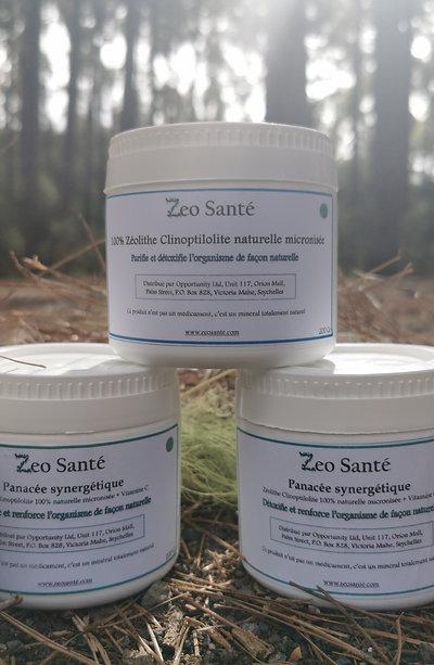 2 Panaceé Synergétique + 1 Zéolithe clinoptilolite 100% micronisée