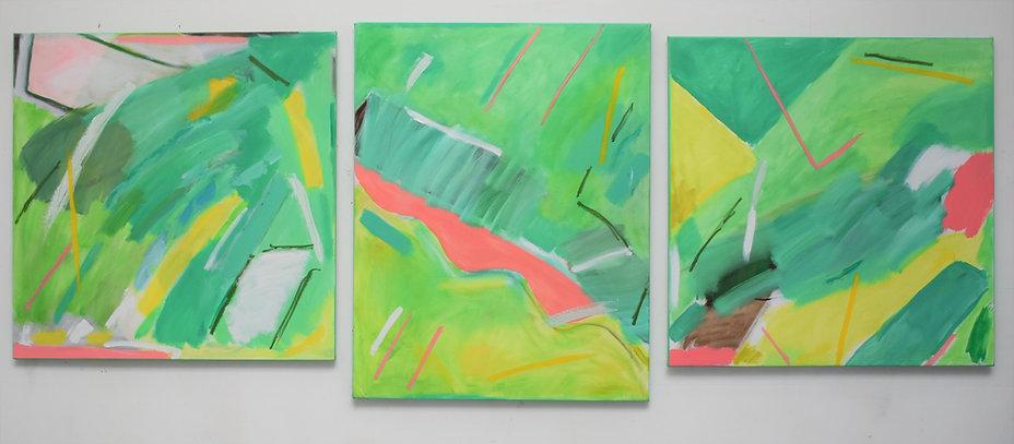 'Aerial View' triptych - Lorraine Molins