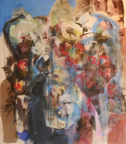 Abstract painting titled 'Madrid' by artist Mark Thibeault featuring in NoonPowell Summer Show