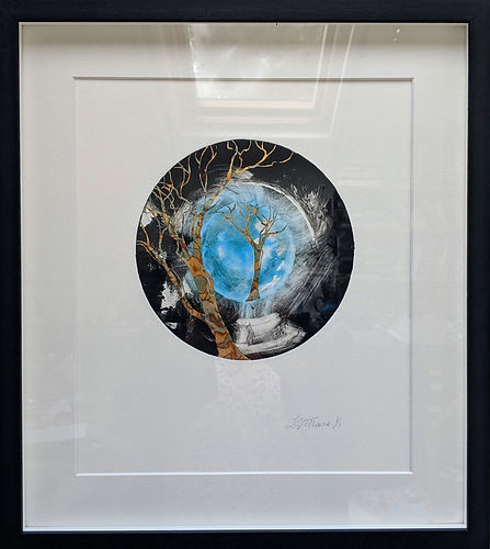 Cycle of Life Mono print - Lorraine Thor