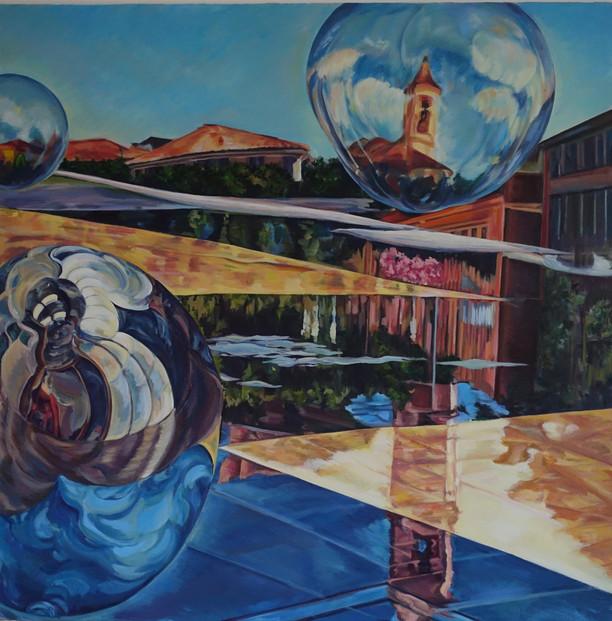 'Paillon Bubbles and Reflections'