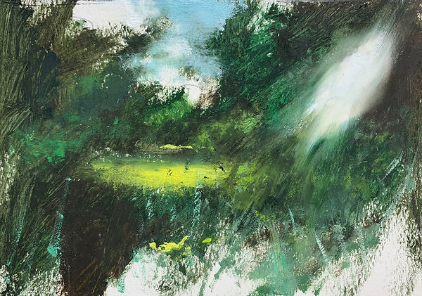 painting oil on board by Kieran Stiles featuring in NoonPowell Summer Show 2020