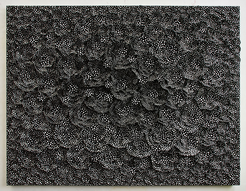 Forest-2019-20. Andrew Ryder, artwork 3-dimensional artwork, black and white, wall hanging 3d artwork, featuring in NoonPowell Summer Show 2020