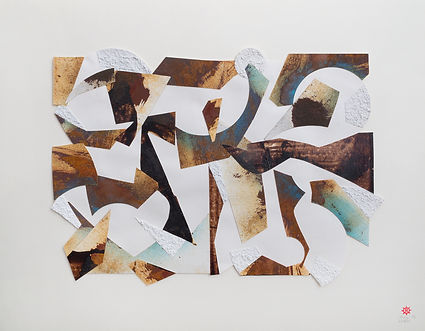 Space Field Collage by Andrew Revell, featuring in NoonPowell Summer Show 2020