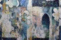 Six Visitors, acrylic on canvas, 46x70,