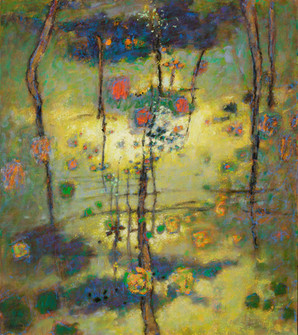 'Sunlight Shining through the Trees'