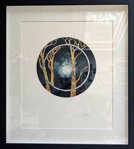 Cycle of Life Mono Print Series no. 1 -