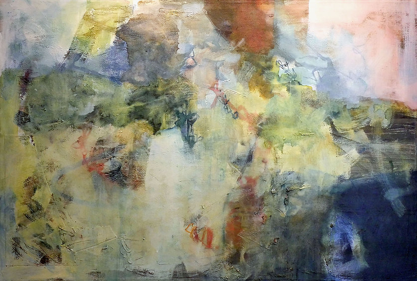 Elements - mixed-media painting by Mark Thibeault, abstract painting, featuring in NoonPowell Summer Show 2020