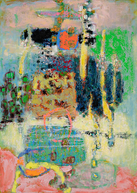 Heartstrings - Rick Stevens, oil on canvas painting, abstract, featuring in NoonPowell Summer Show 2020