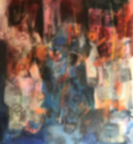 Abstract painting titled 'Deshojo' by Mark Thibeault featuring in NoonPowell Summer Show