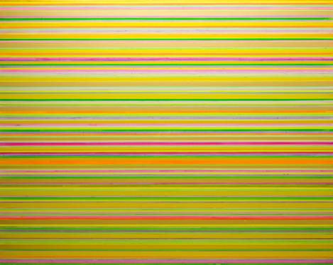 'Interference Green Gold Pink'