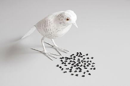 Art Photography featuring paper bird by conceptual photographer Garcia de Marina, featuring in NoonPowell Summer Show 2020
