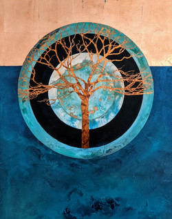 Circle of life series :with copper tree