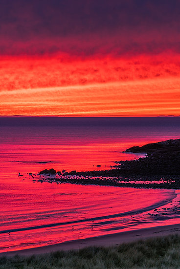 Sky on fire above the Minch and the Western Isles.