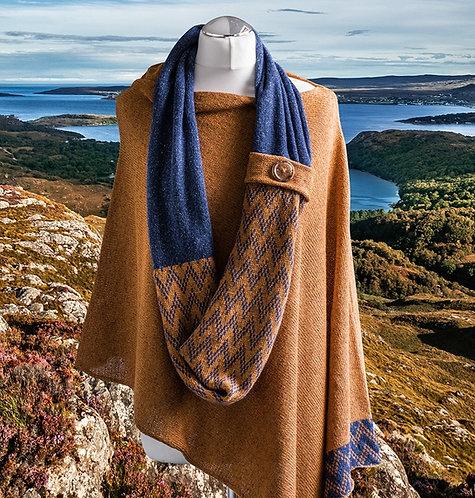 Gairloch Merino Silk Infinity Scarf - Autumn