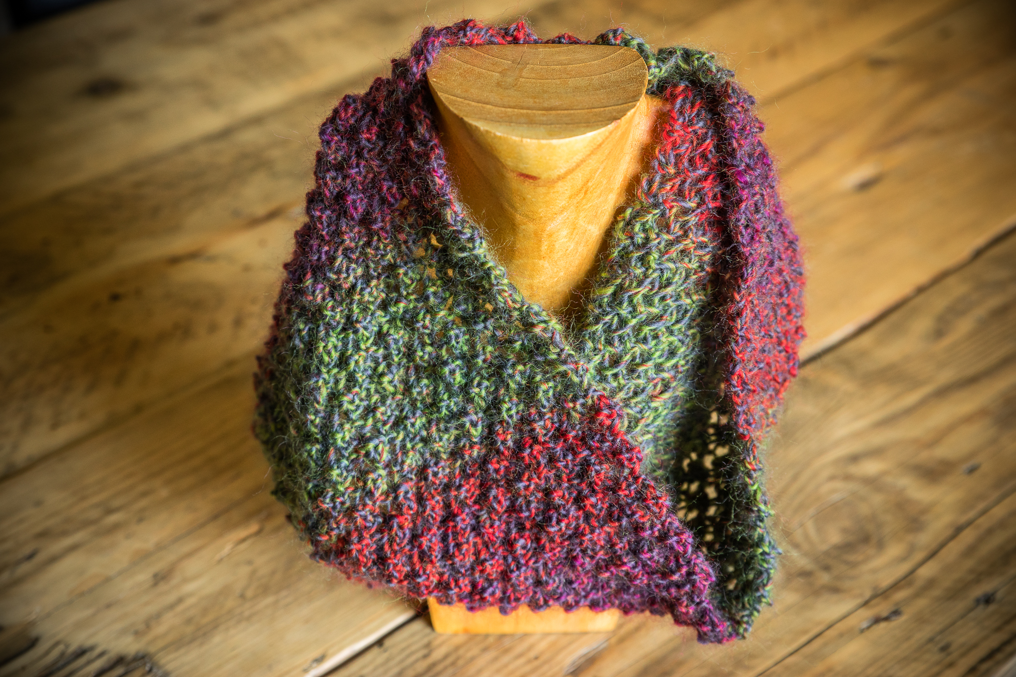 Silk & wool cowl