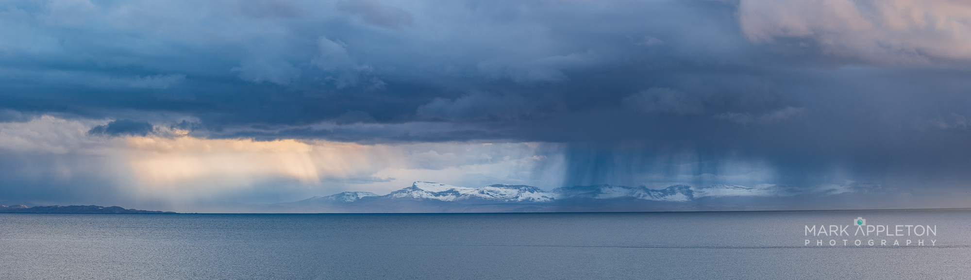 Sleet shower over Skye