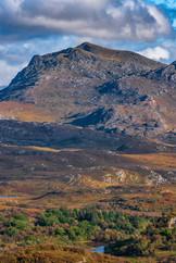 Beinn Airigh Charr in its autumn colours.