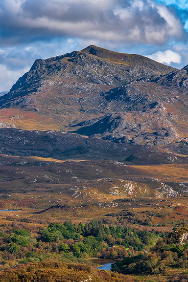 Beinn Airigh Charr in its autumn colours.