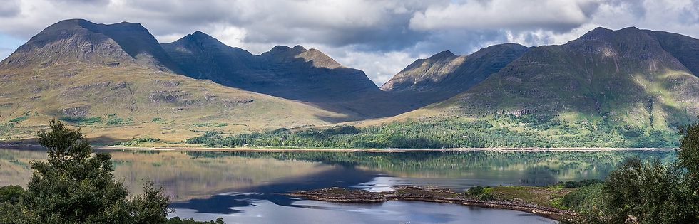 Looking across Upper Loch Torridon towards the Torridon mountains