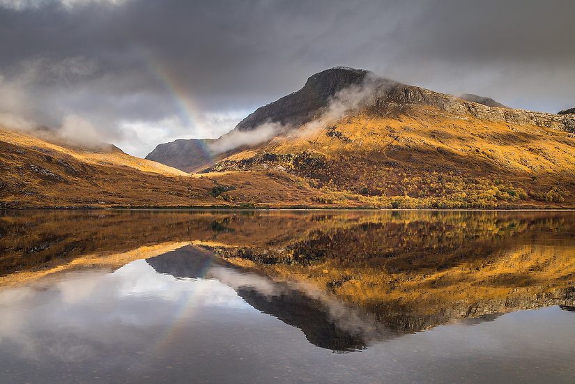 Rainbow reflecting in Loch Maree