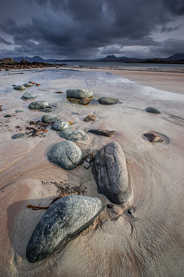 Moody skies on Mellon Udrigle beach.