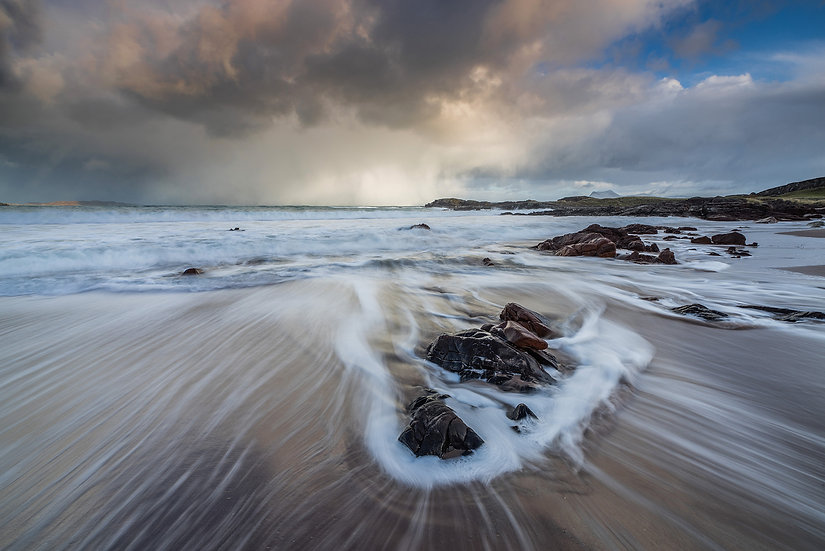 Stormy day at Mellon Udrigle Beach.