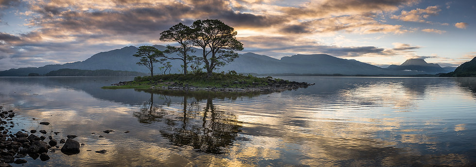 Reflections in the ripples of Loch Maree