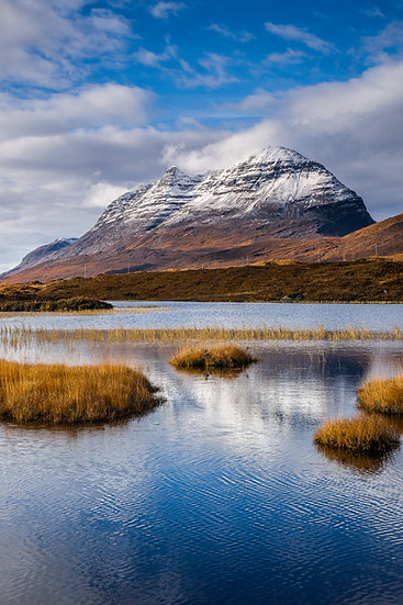 Cloud clearing Liathach with a its dusting of snow