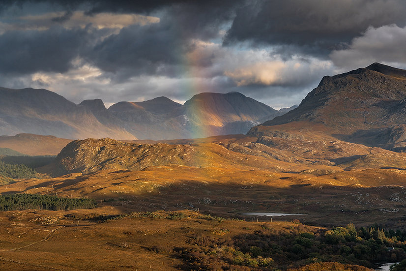 Autumnal colours on the Fishfield mountains and Beinn Airigh Charr