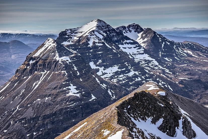 Looking towards Liathach from the summit of Spidean Coire nan Clach, Bienn Eighe
