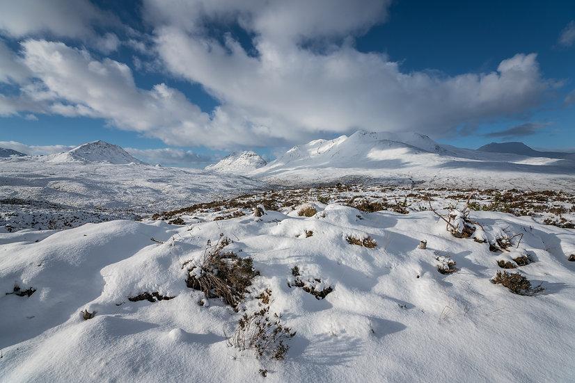 Torridon mountains in their winter coats.