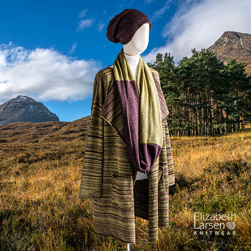 Highland Knitted Slouch Coat and Accessories