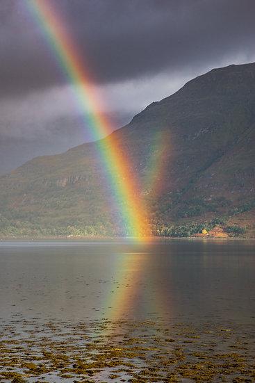 Stunning rainbow creating an X on Upper Loch Torridon.