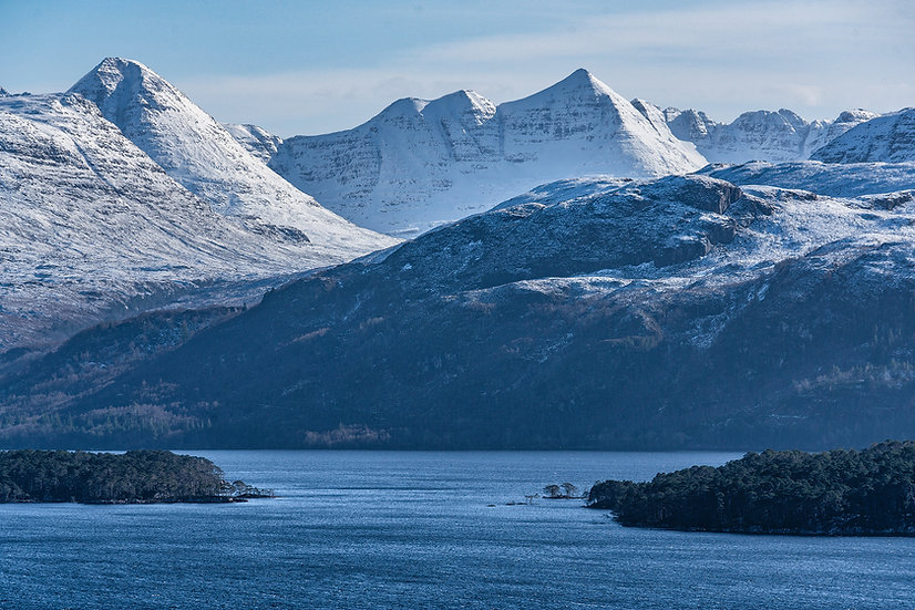 Looking across Loch Maree towards Beinn Eighe and Laithach