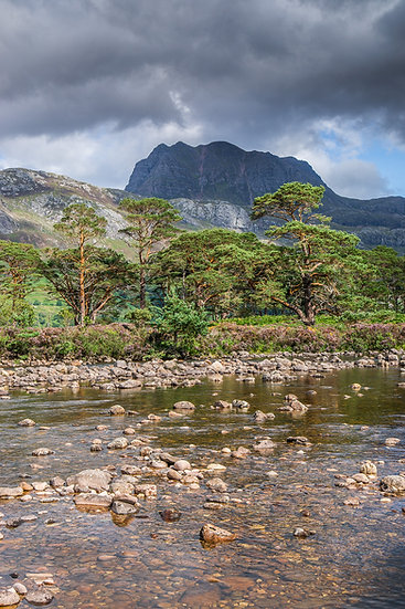 River Grudie overshadowed by the mighty Slioch