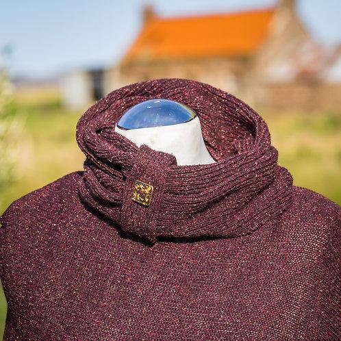 Highland Merino Silk Tweed Cowl Wine
